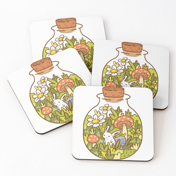 Bunny in a Bottle Coasters (Set of 4)
