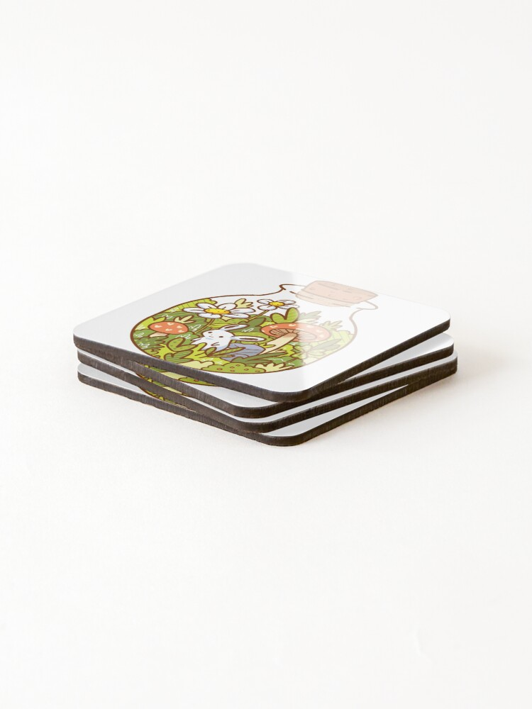 Alternate view of Bunny in a Bottle Coasters (Set of 4)