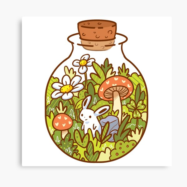 Bunny in a Bottle Canvas Print