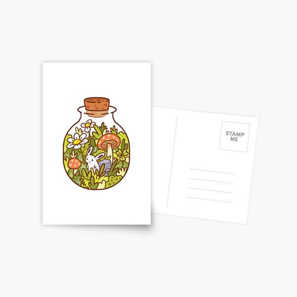 Conejito en una botella Postal