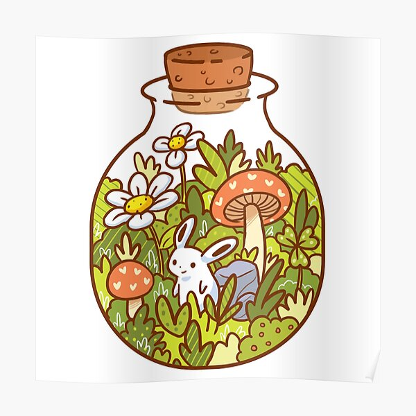 Bunny in a Bottle Poster
