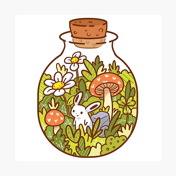 Bunny in a Bottle Photographic Print
