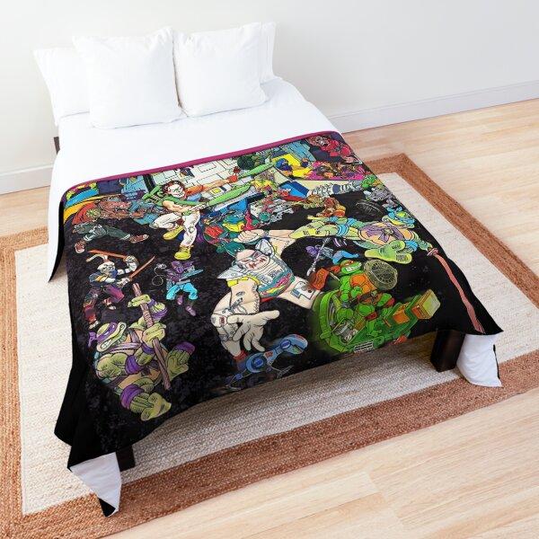 Vintage Ninja Turtles Pizza Classic Art Comforter