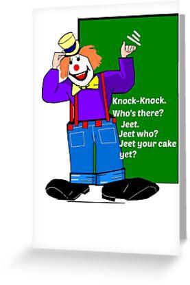 Clown Knock-Knock Joke Card by dorcas13
