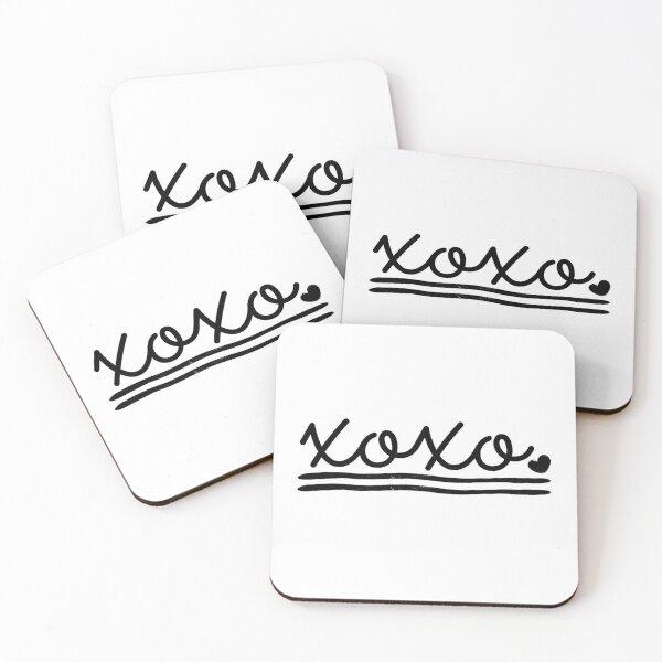 XOXO Style Coasters (Set of 4)