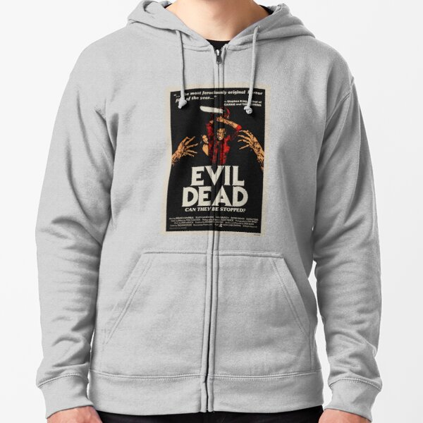 Evil Dead - Vintage Movie Poster Zipped Hoodie