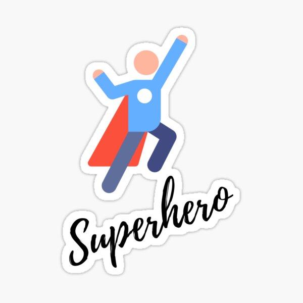 Superhéroe clásico Pegatina