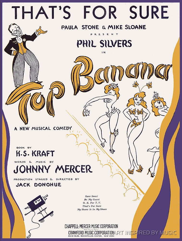 TOP BANANA (vintage illustration) by ART INSPIRED BY MUSIC