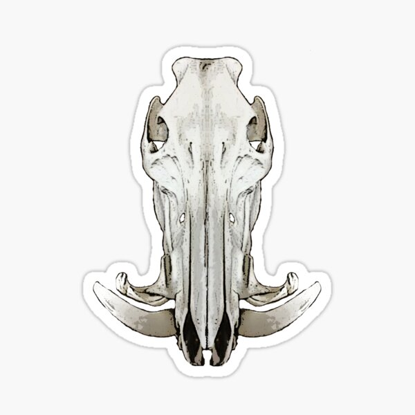Hog Skull Sticker