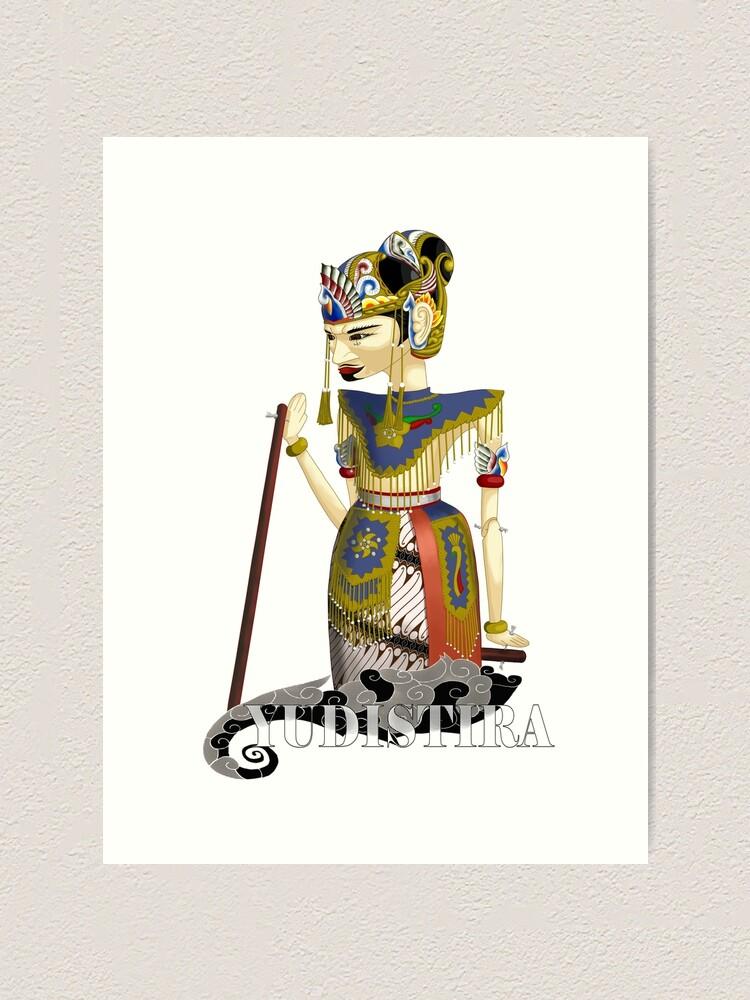 Yudistira Wayang Golek Art Print By Ukiberu Redbubble