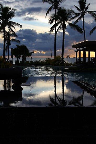 Tropical Resort at sunset, Denarau Island, Fiji by Deb22