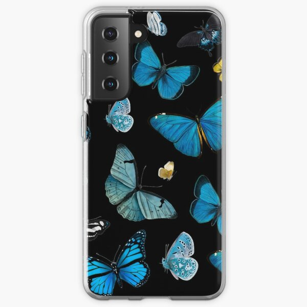 Blue Butterflies Pattern Samsung Galaxy Soft Case