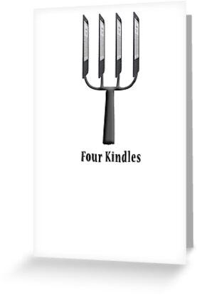 Four Kindles?  -  T Shirt by BlueShift
