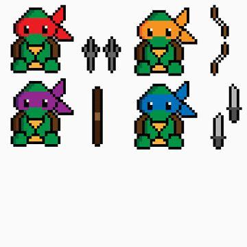 Teenage Pixel Ninja Turtles by CK704