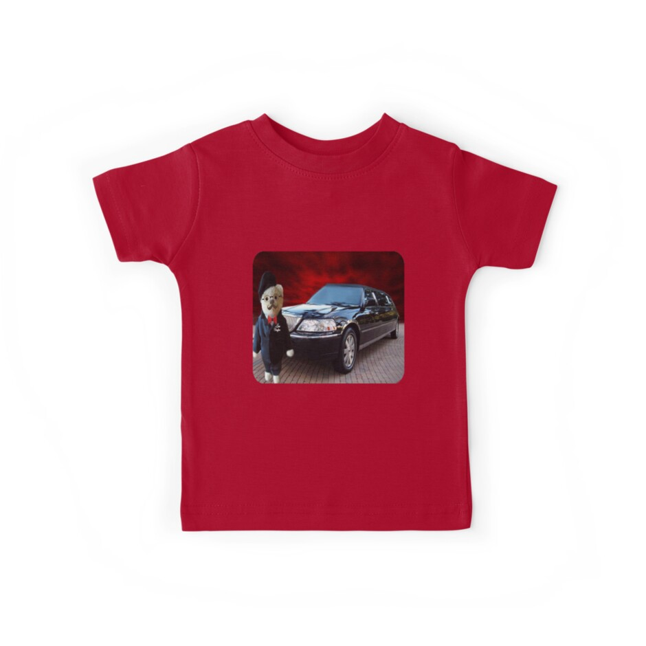 Teddy Bear Limousine Chauffeur Kids (CHILDRENS) Tee Shirt by ✿✿ Bonita ✿✿ ђєℓℓσ