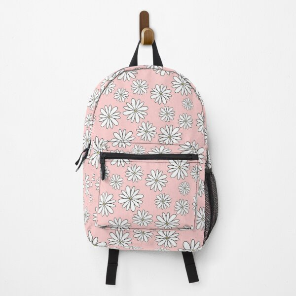 Tiny White Daisy Flowers Floral Sticker Pack Backpack