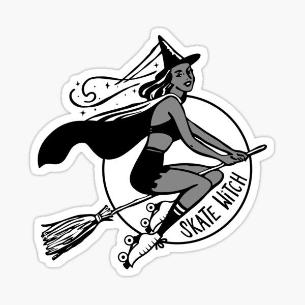 Skate Witch (Medium) Sticker