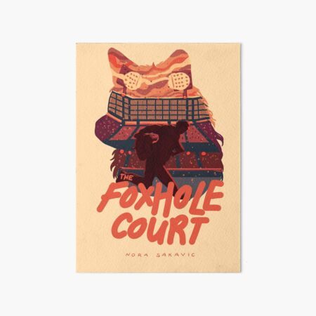 The Foxhole Court Book Cover Art Board Print
