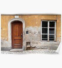 Old house facade. Poster