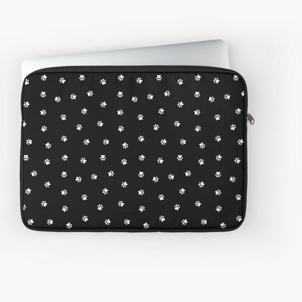 Cat Paw Print Black Laptop Sleeve