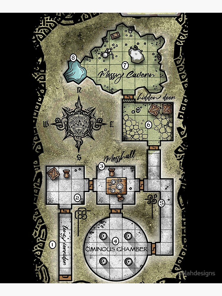 Pocket Dungeon Map by artlahdesigns