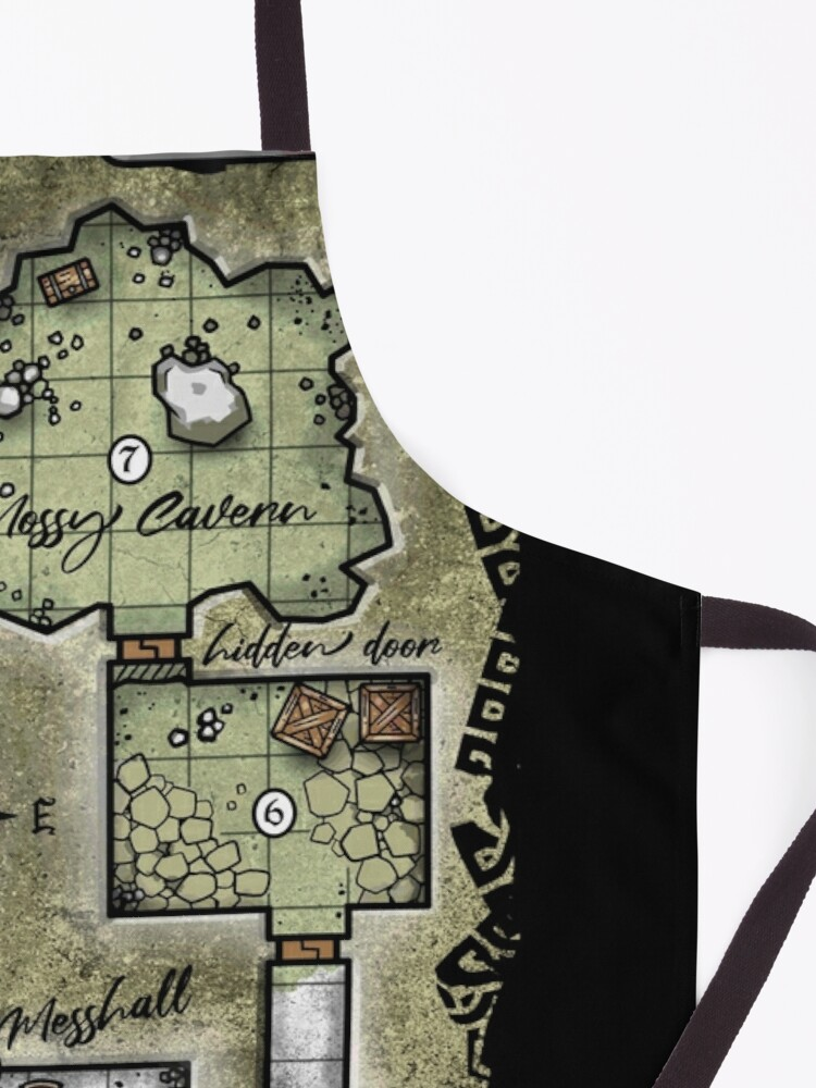 Alternate view of Pocket Dungeon Map Apron