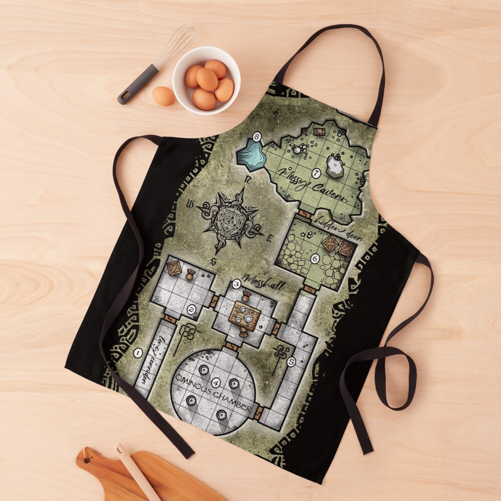 Pocket Dungeon Map Apron