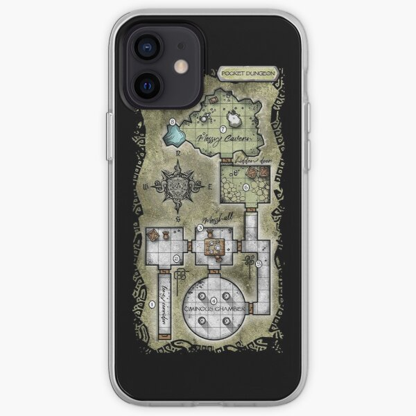Pocket Dungeon Map iPhone Soft Case