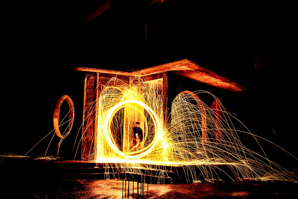 Fire painting 2 by Donald Plozha