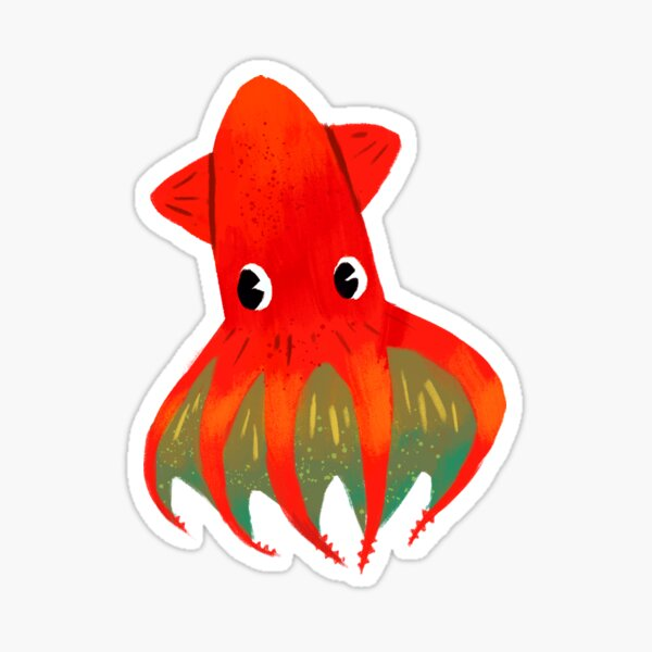 Roblox Custom Song Id Calamari Inkantation Squid Kid Stickers Redbubble