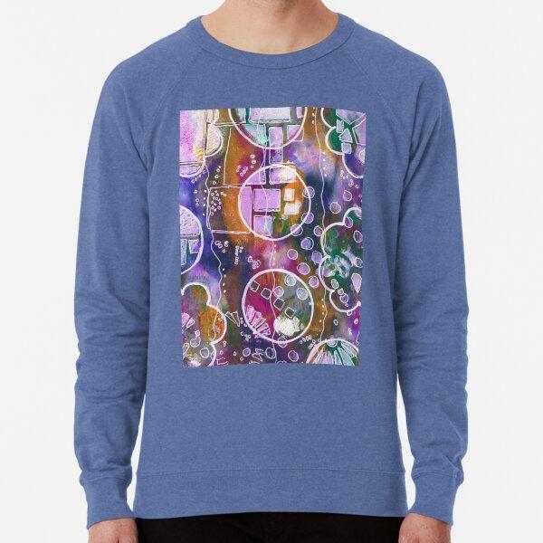 Flower and Circles Print Lightweight Sweatshirt