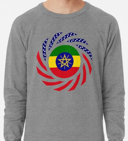 Ethiopian American Multinational Patriot Flag Series Lightweight Sweatshirt