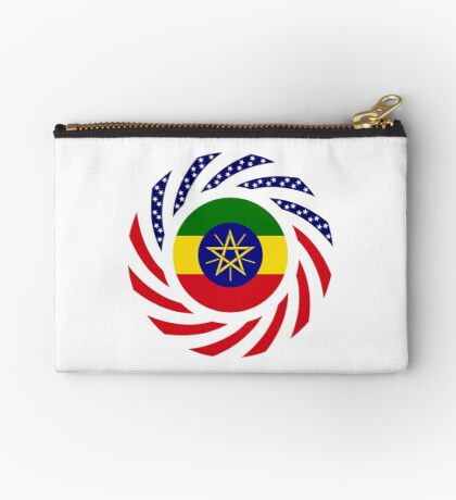 Ethiopian American Multinational Patriot Flag Series Zipper Pouch