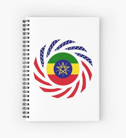 Ethiopian American Multinational Patriot Flag Series Spiral Notebook