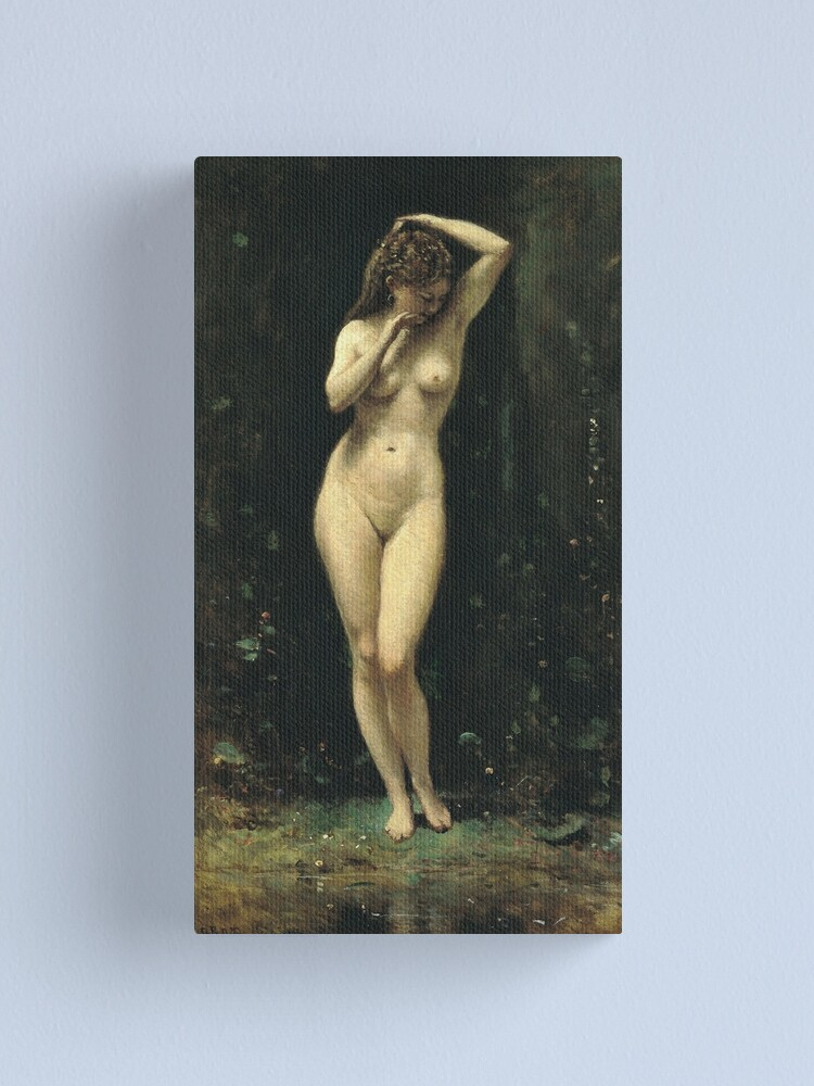 Alternate view of Camille Corot - Diana Bathing (The Fountain) Canvas Print