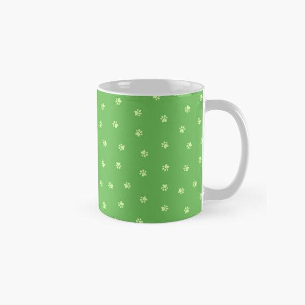Cat Paw Print Green Classic Mug