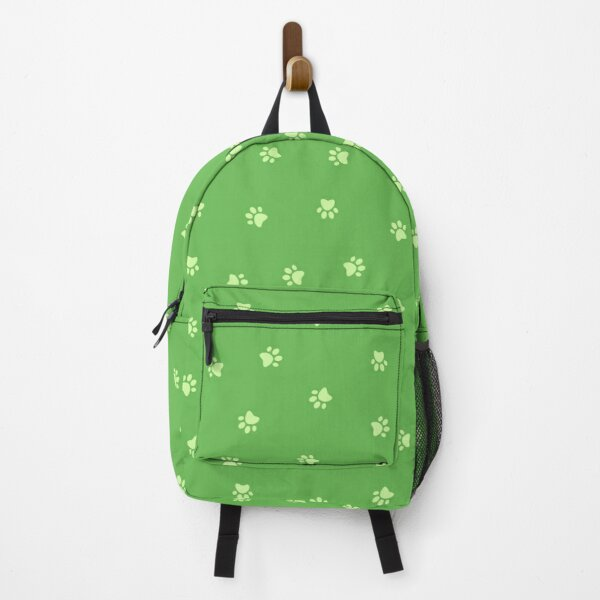 Cat Paw Print Green Backpack