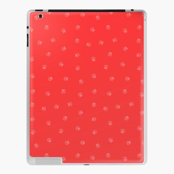 Cat Paw Print Red iPad Skin