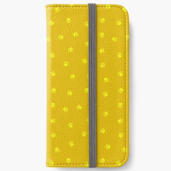 Cat Paw Print Mustard iPhone Wallet