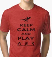KEEP CALM AND PLAY ARK black 2 Tri-blend T-Shirt
