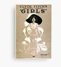 Vintage poster - Girls Canvas Print