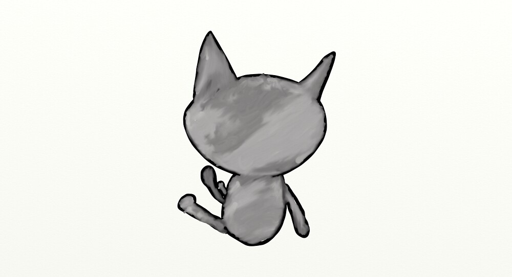Gray Avatar Cat by JarenR