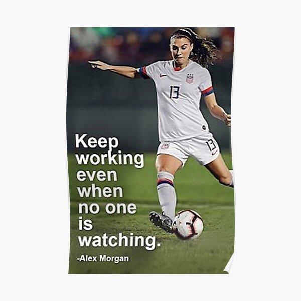 Alex Morgan Inspirational Poster