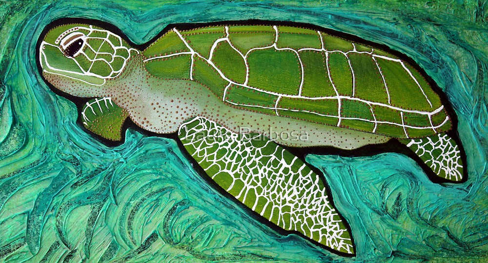 Green Sea Turtle by Laura Barbosa