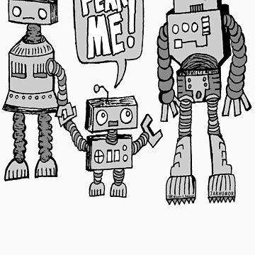 FÜRCHTE MICH! Roboter Kid von jarhumor