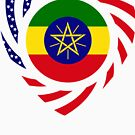 Ethiopian American Multinational Patriot Flag Series 2.0 by Carbon-Fibre Media