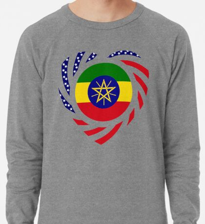 Ethiopian American Multinational Patriot Flag Series 2.0 Lightweight Sweatshirt