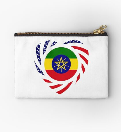 Ethiopian American Multinational Patriot Flag Series 2.0 Zipper Pouch