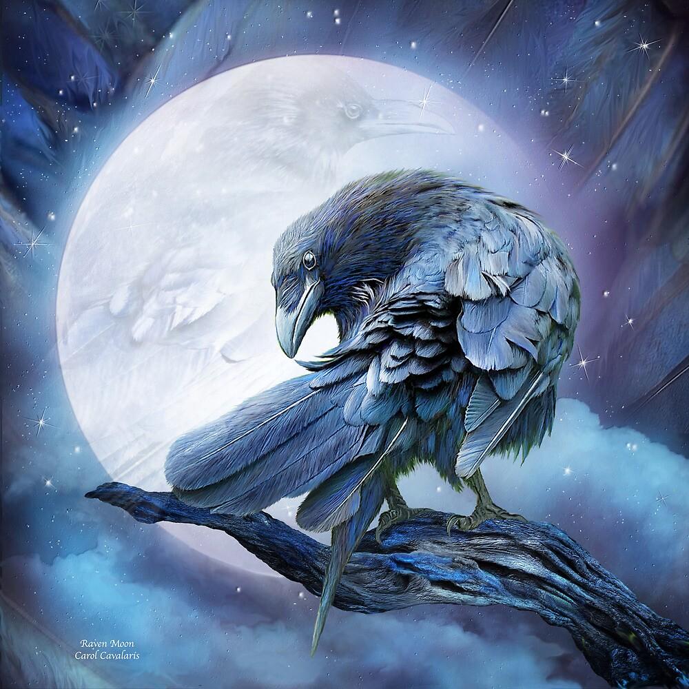 Quot Raven Moon Quot By Carol Cavalaris Redbubble