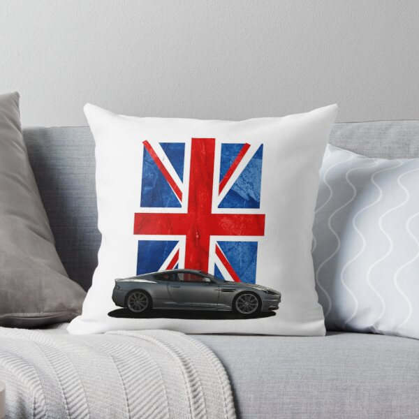 NEW James Bond British Flag FILLED CUSHION Design Pillow Sofa Chair Cover